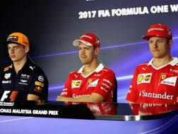 Da sinistra Verstappen, Vettel e Raikkonen. Getty