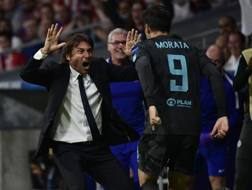 L'esultanza di Conte e Morata.