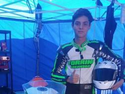 Il giovane Manuel Torrini, 14enne pilota di casa Yamaha - Corsedimoto