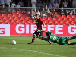 Il gol del momentaneo 2-1 di Fedato. LaPresse