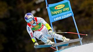 Lindsey Vonn, 32 anni, a Lake Louise GETTY