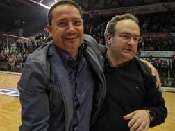 A sinistra Raffaele Iavazzi, patròn della Juve Caserta CIAM