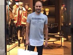 Josep Guardiola i Sala, 46 anni, avvistato in centro a Roma