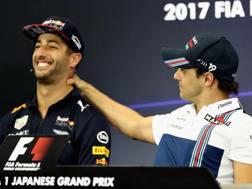 Ricciardo (a sin) scherza con Felipe Massa. Getty