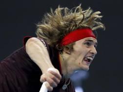 Rafa Nadal, 31 anni, in azione contro Khachanov REUTERS