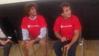 Gimbo Tamberi ed Alex Zanardi ad Amatrice
