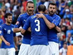 Leonardo Bonucci, 30 anni, Giorgio Chiellini, 33, e Andrea Barzagli, 36