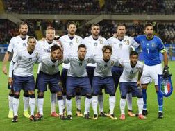 L'undici azzurro contro la Macedonia. LaPresse