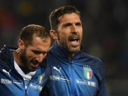 Giorgio Chiellini e Gigi Buffon. Getty Images