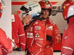 Sebastian Vettel dopo il ritiro in Giappone. Getty