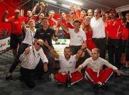 La festa Ferrari ad Atlanta