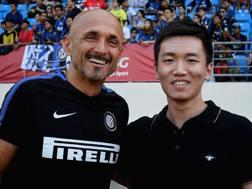 Luciano Spalletti con Steven Zhang, figlio del patron di Suning Jindong.