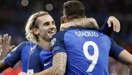 Griezmann e Giroud. Epa