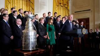 I Pittsburgh Penguins ricevuti alla Casa Bianca