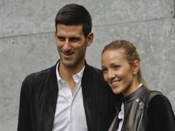 Novak Djokovic e la moglie Jelena. Ap