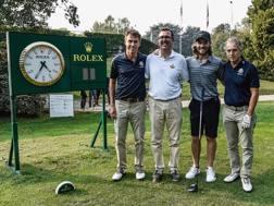 Il team vincitore della Rolex Pro Am SCACCINI