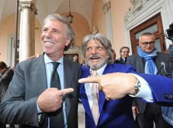 Enrico Preziosi e Massimo Ferrero. Ansa