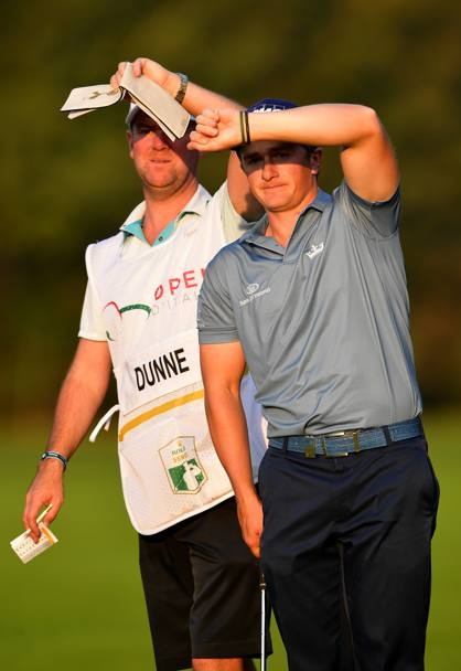 Dunne e il suo caddy (Getty Images)