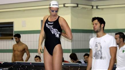 Federica Pellegrini e il suo coach Matteo Giunta. Ipp