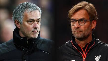 José Mourinho e Jurgen Klopp. Getty Images