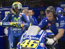 Valentino Rossi preoccupato. Getty