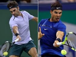 Roger Federer e Rafa Nadal. Afp/Ap