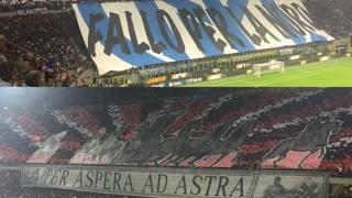 Inter-Milan, duello in curva: le coreografie, dal gol alle stelle