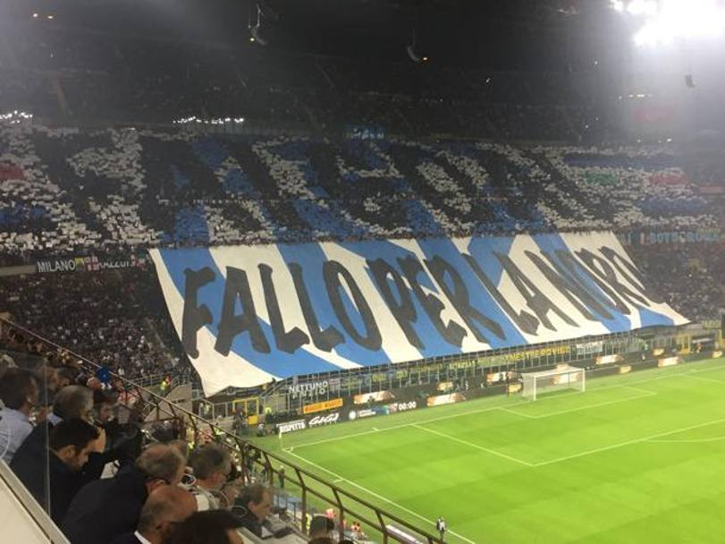 La Curva Nord dell'Inter
