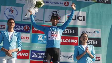 Diego Ulissi, 28 anni, sul podio del Tour of Turkey  - Bettini