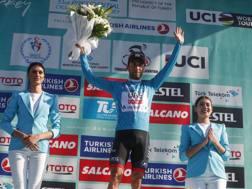 Diego Ulissi, 28 anni, sul podio del Tour of Turkey  - Bettini