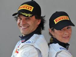 Paolo Andreucci in posa con Anna Andreussi