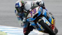 Alex Marquez in azione a Motegi. Epa