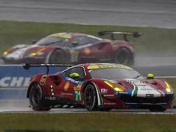 Le Ferrari in azione al Fuji