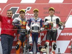 Il podio tutto italiano della Moto3 a Motegi
