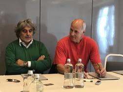 Mike Sylvester con Franco Del Moro, che ha organizzato la sua permanenza a Pesaro