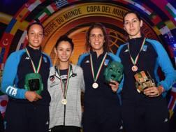 Il podio di Cancun, per 3/4 italiano