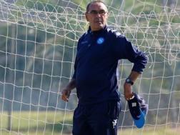 Maurizio Sarri, tecnico del Napoli. Reuters