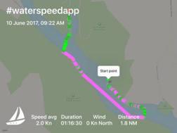 La rotta tracciato da Waterspeed
