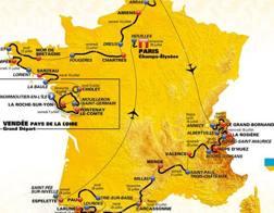 La cartografia del Tour 2018
