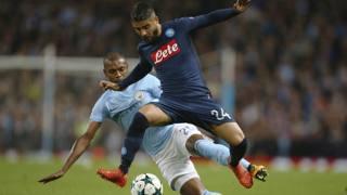 Lorenzo Insigne contro Fernandinho. Ap