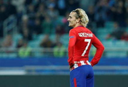 Griezmann, 26 anni, un gol in tre partite in questa Champions Reuters