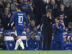 Hazard esce e non guarda Conte. Epa