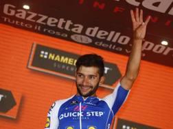 Fernando Gaviria, 23 anni, festeggia la vittoria  nella 13ª tappa del Giro d'Italia 2017 - Bettini