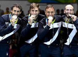 Fichera, Enrico Garozzo, Pizzo e Santarelli argento a Rio: 3 su 4 senza palestra. Ansa