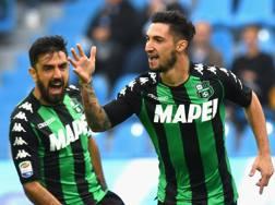 Matteo Politano, 24 anni, esulta per il gol a 40