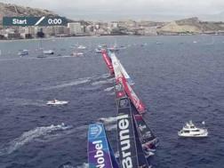 La partenza della Volvo Race