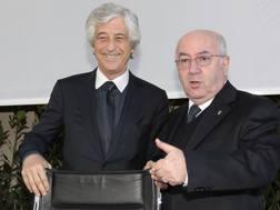 Gianni Rivera con Carlo Tavecchio. Getty Images