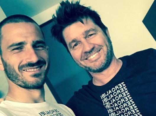 Leonardo Bonucci con il motivatore Alberto Ferrarini
