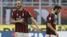 Leonardo Bonucci dopo il rosso col Genoa. Ap