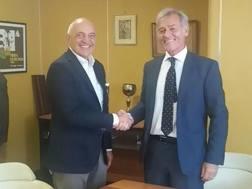 Giuseppe Nucci (EMC TV) e Pietro Piccinetti (Fiera Roma)